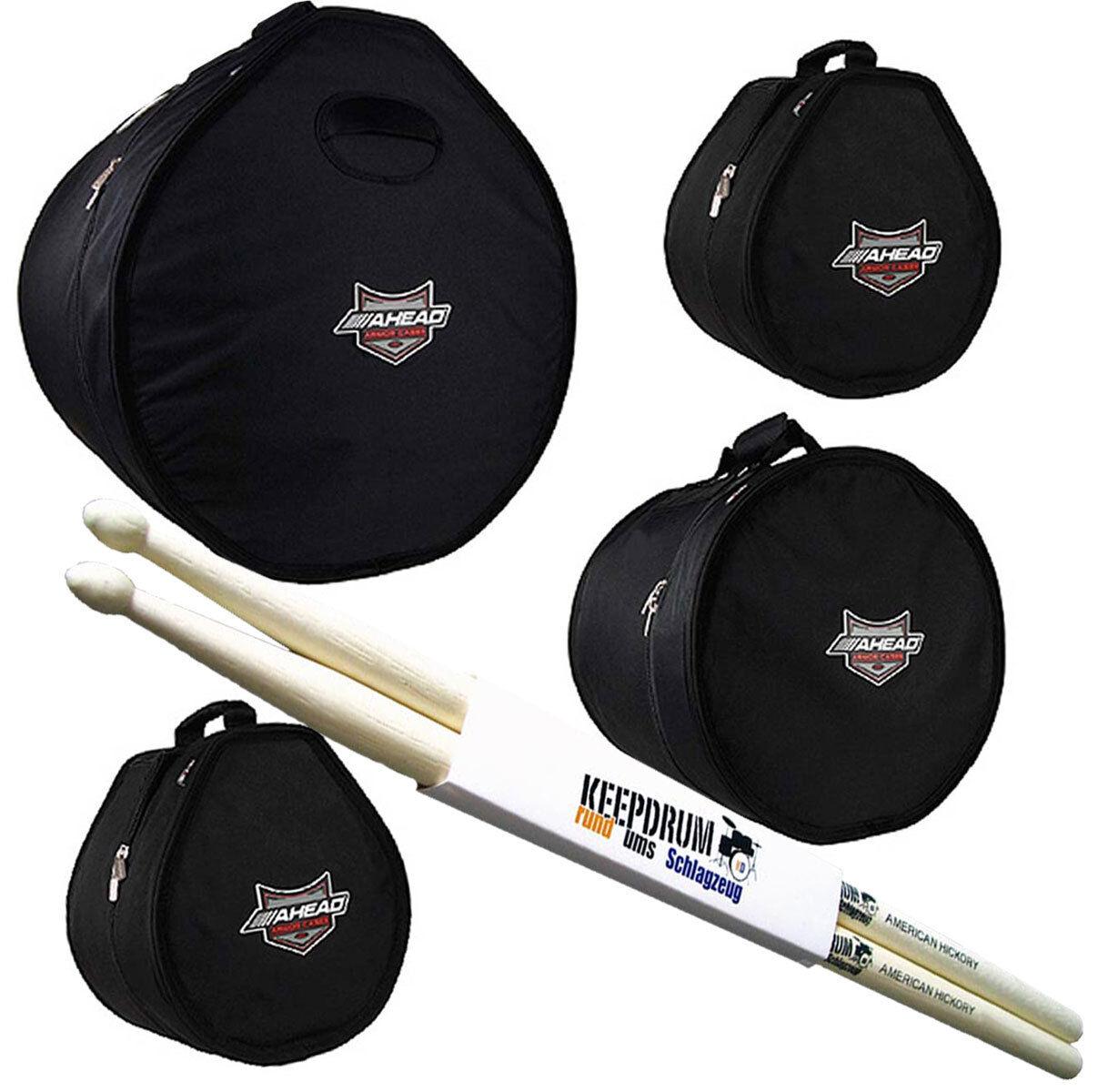 Ahead Armor ARSET - 3 Drum Case Set 22x18 10x8 12x9 16x16 halten Drumsticks
