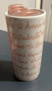 Princess Signature Ceramic Travel Cup Tumbler Disney Theme Parks  ws1