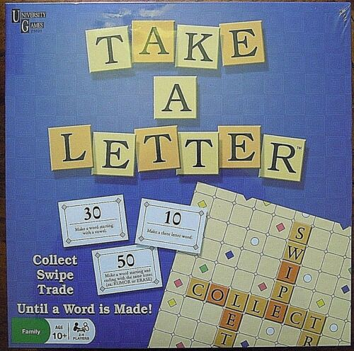 Take A Letter Word Game Collect Swipe Swap Brand New Sealed Age 10+