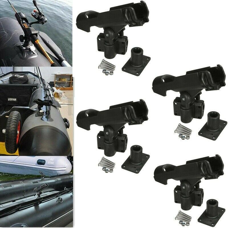 4pcs rh40 kayak fishing rod Mount 360 ° adjustable holder sside Rail Mount Kit