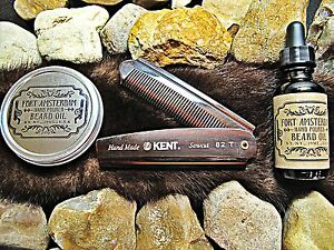 3 pack beard wax oil and kent comb grooming fort amsterdam. Black Bedroom Furniture Sets. Home Design Ideas