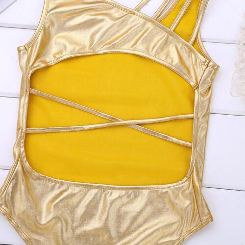 UK/_Girls Gymnastics Sleeveless Leotards Kids Ballet Bodysuit Dancewear Costumes