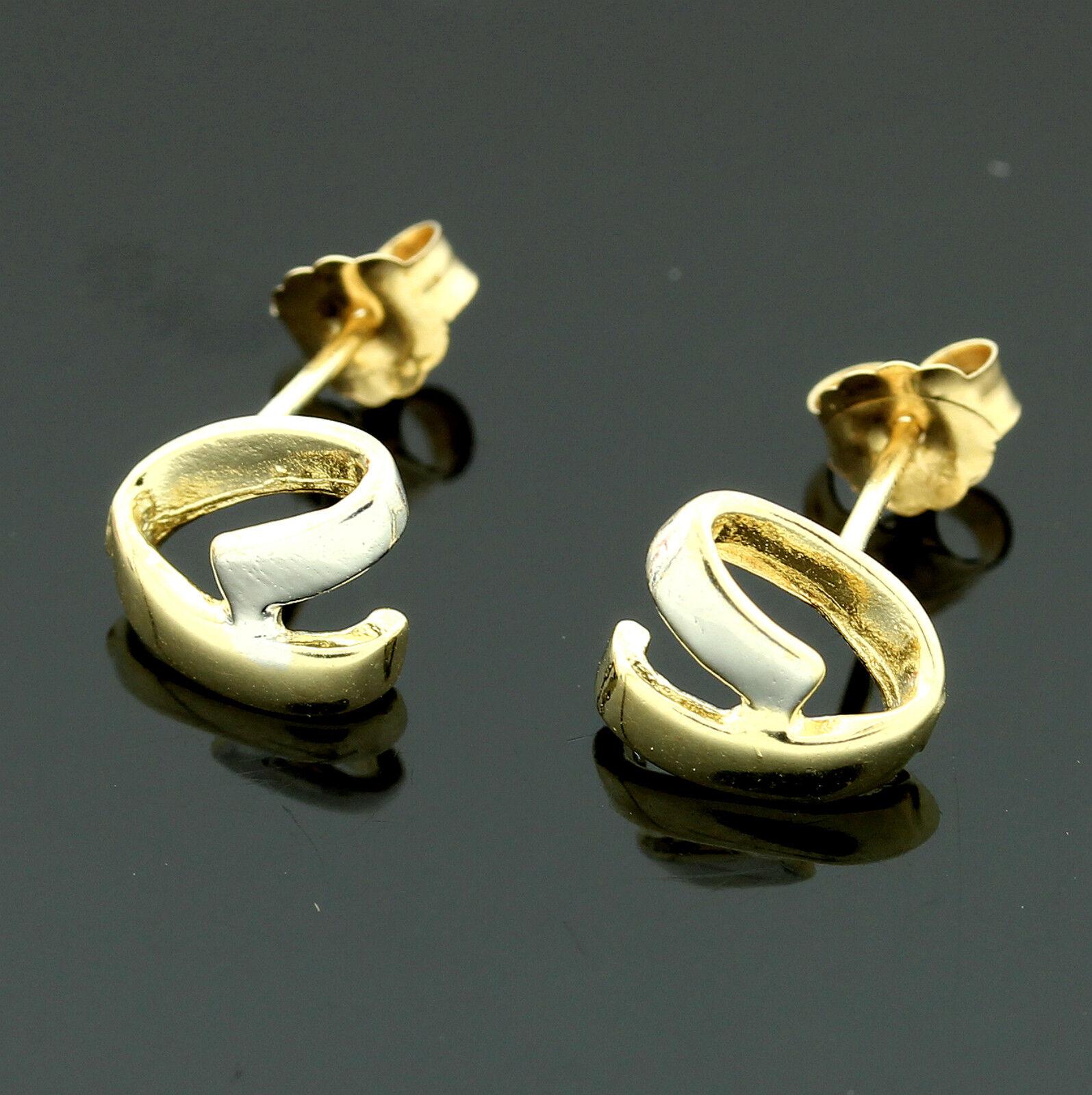 9ct Yellow gold Stud Earrings- GIFTBOXED