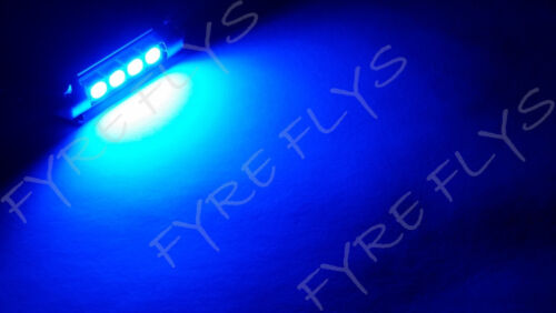 1 Super Blue 42mm Canbus Error Free LED Bulbs Dome Map Cargo Light W2x1