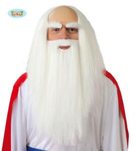 GUIRCA-Parrucca-barba-Druido-mago-carnevale-halloween-adulto-mod-4879
