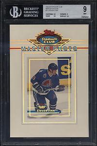 1993-94-Stadium-Club-Master-Photo-Steven-Finn-Mint-BGS-9-w-9-5-Quebec-Nordiques