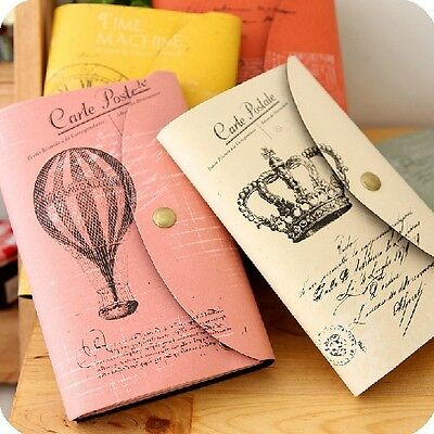 """""""Carte Postale"""" 1pc Vintage Diary Travel Planner Pocket Journal Notebook Notepad"""