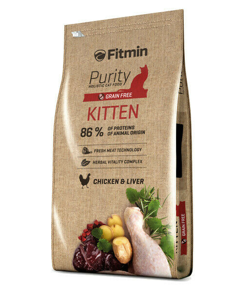 10kg fitmin CAT Purity KITTEN priva di cereali cibo per gatti