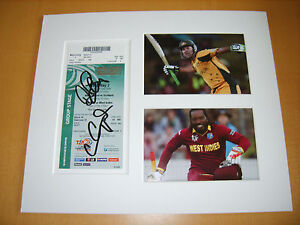Chris-Gayle-amp-Ricky-Ponting-Genuine-signed-authentic-autographs-UACC-AFTAL