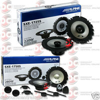 Package Deal Alpine Sxe-1750s + Sxe-1725s 6.5 2-way Component & Coax Speakers