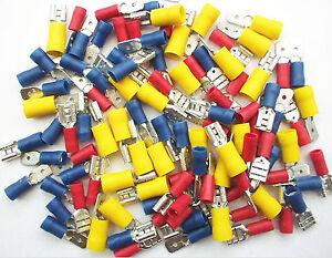 SPADE-Terminals-Mixed-Crimp-Connectors-100-Pack