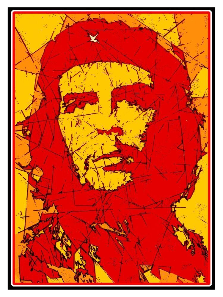 5602.Che Gevara.close up portrait of revolutionary.POSTER. Home Office decor