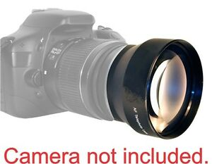58MM 2x Telephoto Zoom Lens for Canon Rebel 1V T3I T4I T5 T5I 20D 60D 70d T6 7D