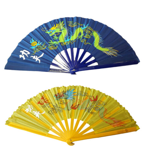 LARGE BURLESQUE CHINESE DECORATIVE ORNAMENTAL FANCY DRESS DRAGON FAN FREE UK P/&P