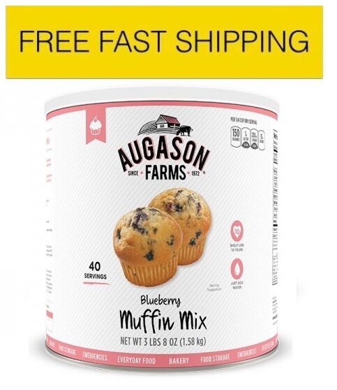 Augason Farms Emergency Food blueeberry Muffin Mix Disaster Survival 1 Can