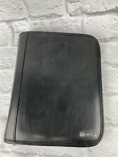 Franklin Covey Black Classic Size Binder Genuine Leather 7 Rings