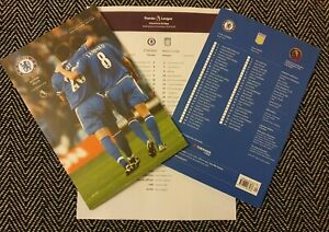 Chelsea-v-Aston-Villa-COLLECTOR-039-S-EDITION-Programme-with-teamsheet-4-12-19