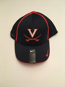 R4) University of Virginia UVA Cavaliers Nike Dri-Fit Blue Medium Large Hat