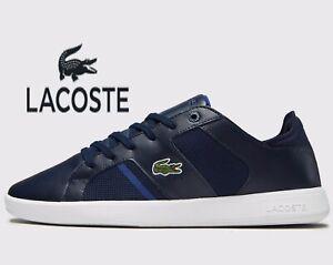 Lacoste-Novas-CT-118-2-JD-SPM-Men-Sizes-UK-6-7-10-11-Navy-Blue-Leather