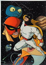 SPACE GHOST PRINT w Brak Zorak & Phantom Cruiser Hanna Barbera