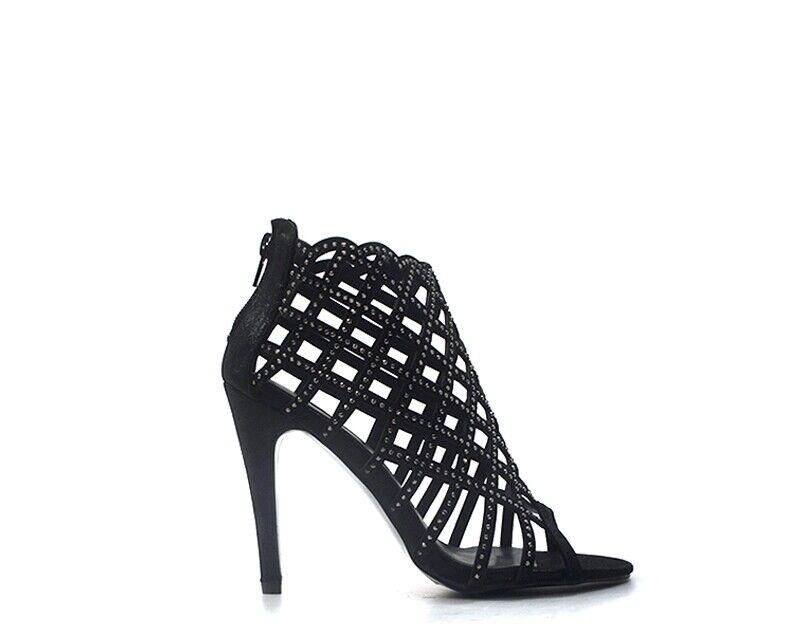 Chaussures TOO LIKE femmes Sandali Alti  noir PU TOO17TL02-2.BL.01