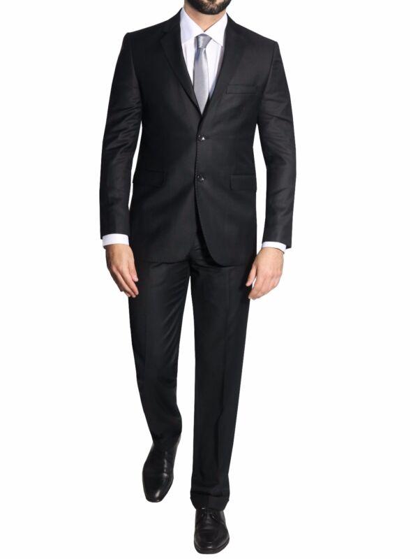 Taillierte Herren Anzug Gr.56 Schwarz