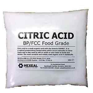 CITRIC-ACID-1KG-BAG-100-Anhydrous-Fine-GMO-Free-BP-FCC-Food-Grade