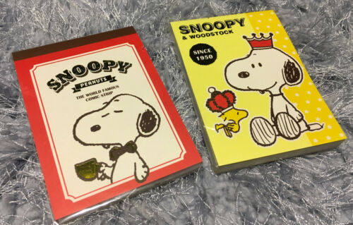 1x Snoopy Note Book Cute Woodstock Diary Note Memo Pad Message Rare Gift Peanuts