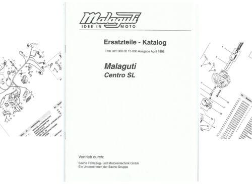 Ersatzteilliste Ersatzteilkatalog Malaguti Centro SL  ET P009810080215000