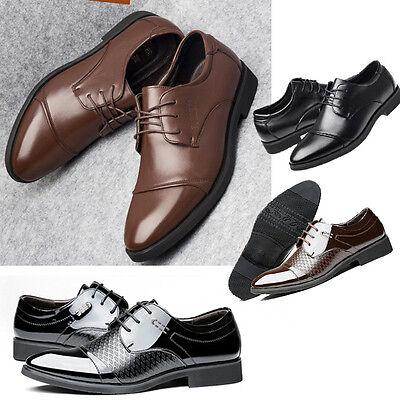 Herren Business Schnürer Hochzeit Anzug Spitze Schuhe Halbschuhe Schnürschuhe