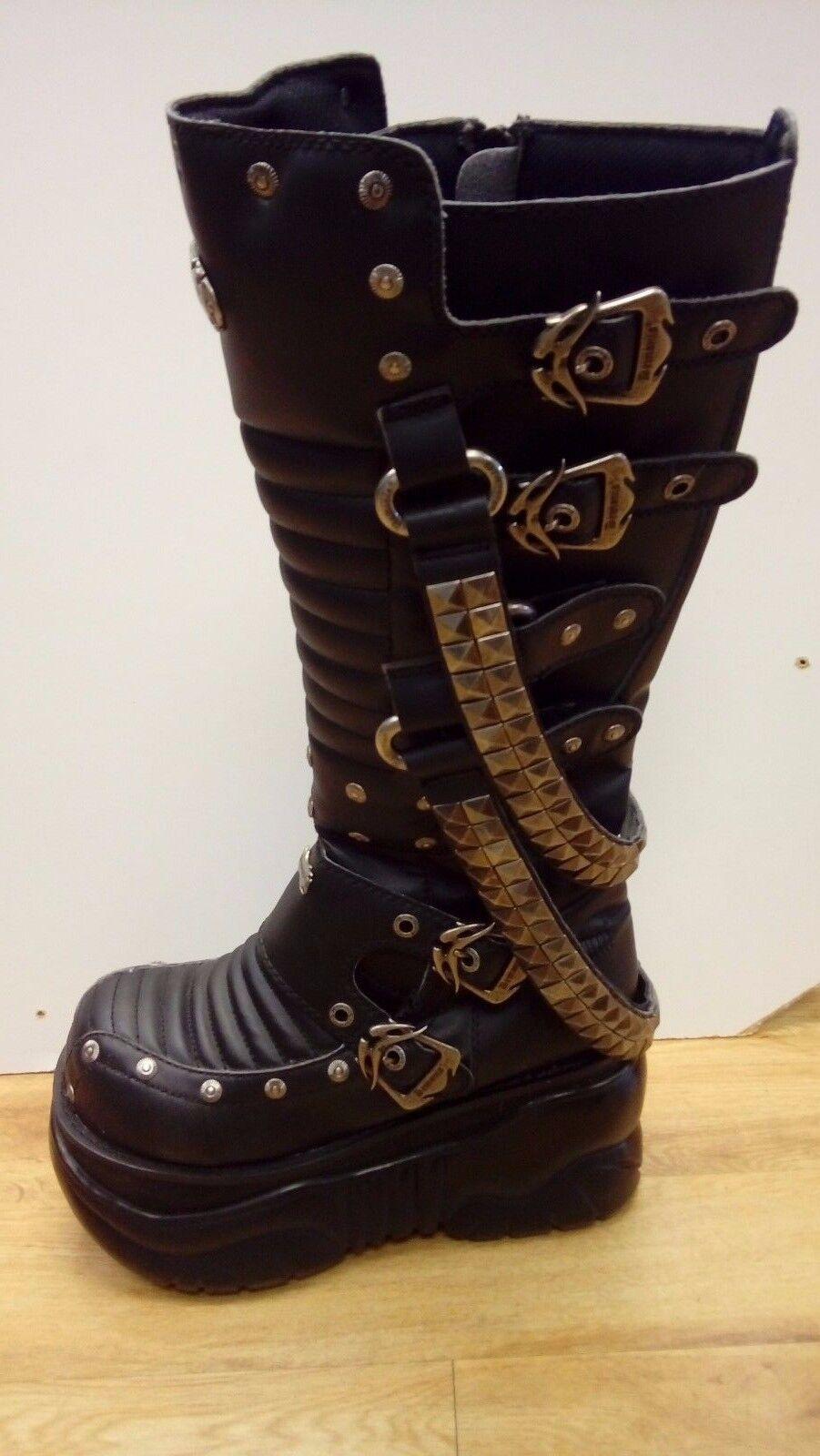 Demonia Taglia 9 Goth Stivali Stivali Stivali in pelle - 1033 | vendita di liquidazione  | Sig/Sig Ra Scarpa  750cb3