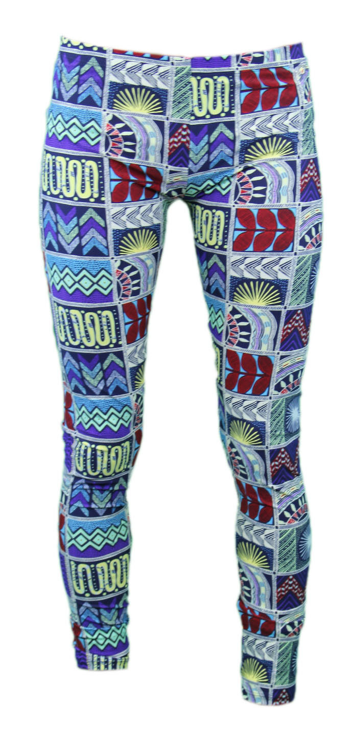 MARA HOFFMAN Quilts Navy Graphic Resort Wear Leggings  238 NEW
