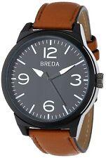 NEW Breda 16880-Brown Mens Stephen Watch 8144 Brown Leather Strap Buckle Closure
