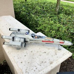 HASBRO-Star-Wars-1998-Power-Of-The-Force-X-WING-Fighter-POTF-FX-Sounds-Vintage