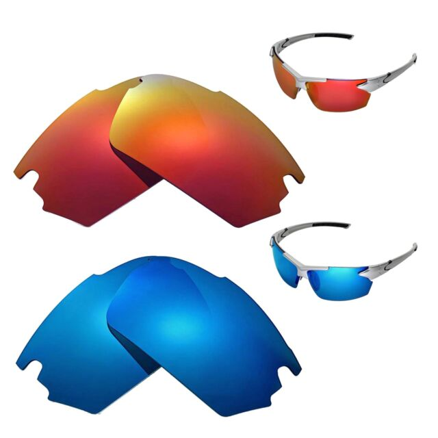 New Walleva Fire Red+Ice Blue Polarized Replacement Lenses For TIFOSI Jet