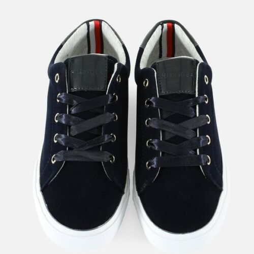 NWT Women/'s Tommy Hilfiger Navy Velvet Tennis Shoes Sneakers