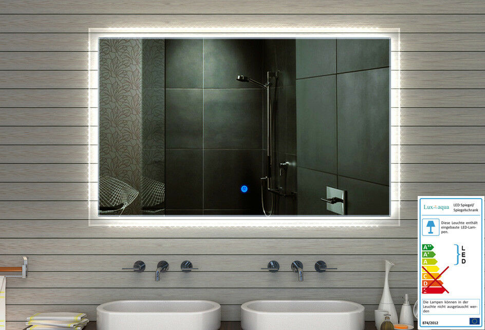 LED Beleuchtung Badspiegel Badezimmerspiegel Kaltweiß Warmweiß Touchschalter