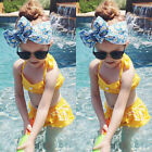 Sweet Baby Girls Clothes Polka Dots Tops+Short Pants Outfits Kid Swimwear Bikini