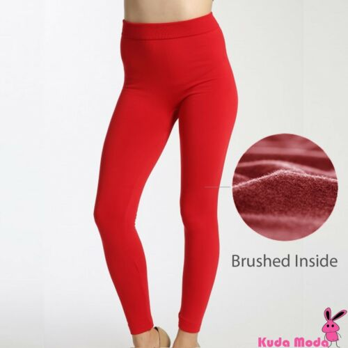 Women/'s Solid Winter Thick Warm Fleece Lined Thermal Stretchy Leggings Pants