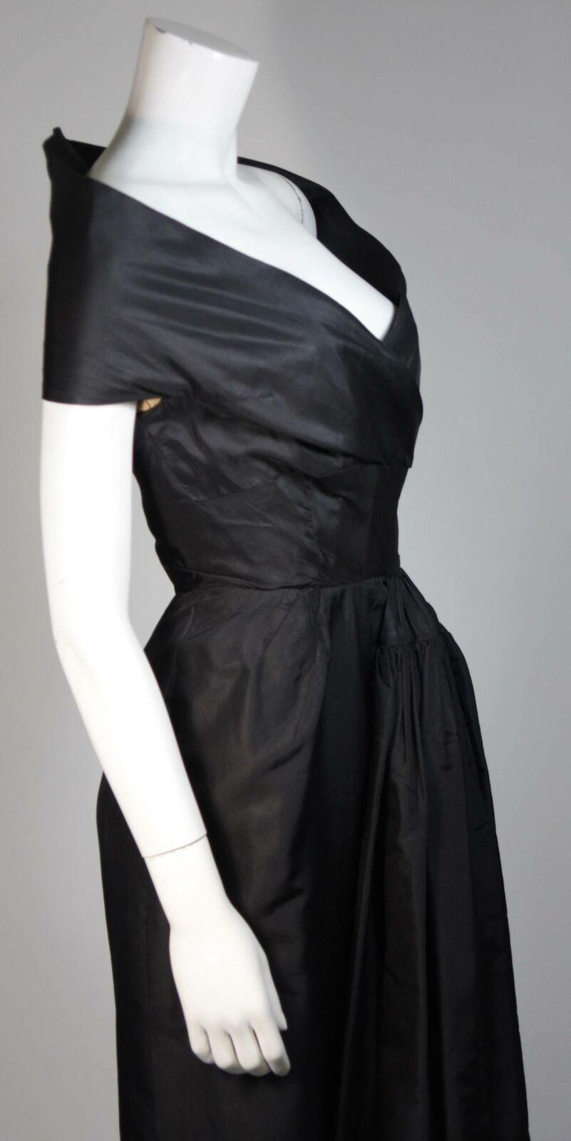 CEIL CHAPMAN  Black Cocktail Dress with Draped De… - image 7