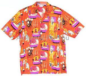 NEW-Disney-Parks-Shag-A-Wretched-Hive-Star-Wars-Cantina-Men-039-s-Camp-Shirt-S-XXL