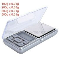 Digital Pocket Jewelry Scale Gram Calibration 100, 200, 300, 500 X 0.01
