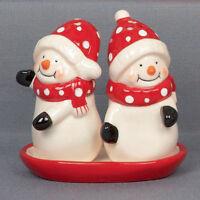 Christmas Snowmen Salt & Pepper Cruet Set  NEW IN BOX - 23793