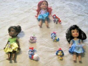 Disney-My-First-Princess-Petite-Toddler-Doll-Lot-6-034-Princesses-amp-Palace-Pets