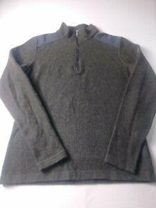Kuhl-Chianti-Fleece-Mens-Sweater-Size-Small-Green-1-4-Zip-Long-Sleeve-Pullover