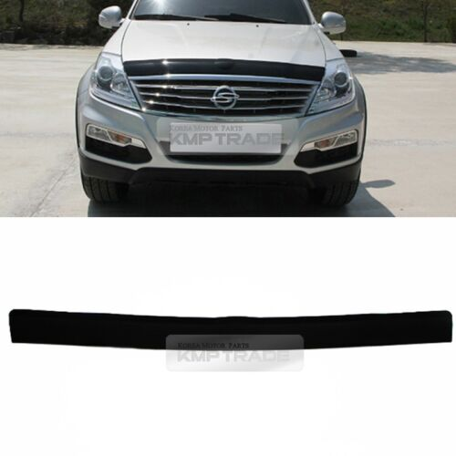 San Front Hood Guard Bug Shield Black Molding Cover for SSANGYONG 2001-05 Rexton