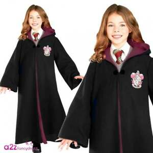 Image is loading Hermione-Granger-Deluxe-Gryffindor-Robe -Halloween-Girls-Fancy-  sc 1 st  eBay & Hermione Granger Deluxe Gryffindor Robe Halloween Girls Fancy Dress ...