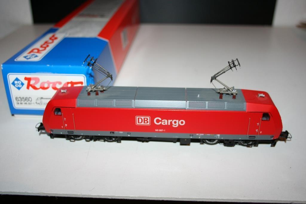 Roco spur h0  63560 elektrolokomotive br 145 007-1 der db cargo, ovp