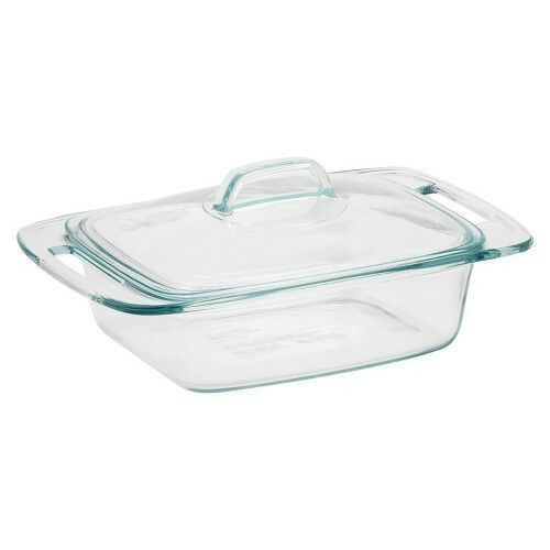 Pyrex Easy Grab 2 Quart Glass Casserole Dish with Lid - Clear