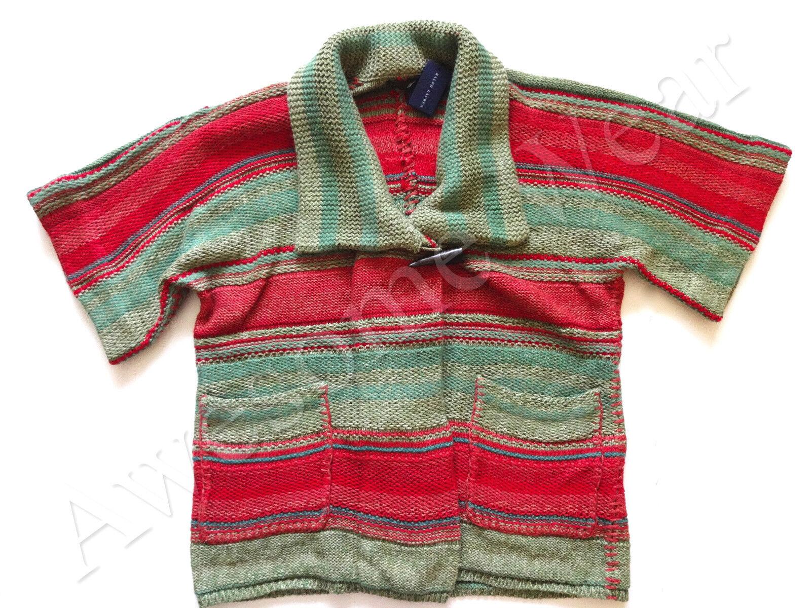 New Ralph Lauren Polo Women's Serape Cotton & Cashmere Cardigan Sweater sz M